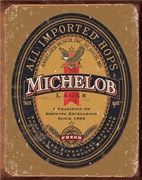 Michelob Logo Tin Sign