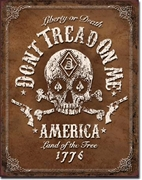 Don't Tread on Me America 1776 Tin Sign