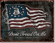 Don't Tread On My Vintage Flag Tin Sign
