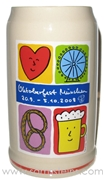2008 Munich Oktoberfest Official Beer Mug