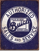 Buick Sales and Service Metal Sign