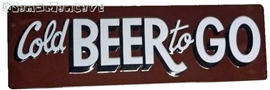 Cold Beer Embossed Tin Sign