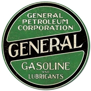 General Gasoline Round Tin Sign