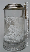 Meger Deer Glass Beer Stein