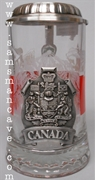 Glass Heritage Series Canada Beer Stein