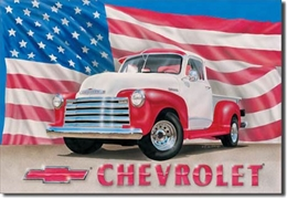 Chevy 1951 Pickup Tin Sign