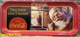 Coca Cola Santa They Knew What I Wanted Tray