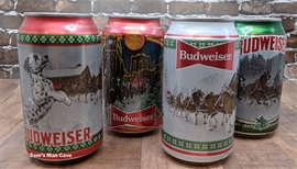 Budweiser Happy Holidays Beer Can Set
