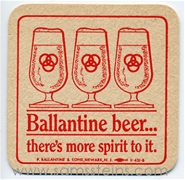 Ballantine Beer More Spirit Beer Coaster