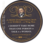 Dos Equis Your Mouth Beer Coaster