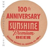 Sunshine 100 Anniversary Beer Coaster