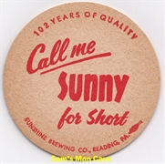 Sunshine 102 Years Beer Coaster