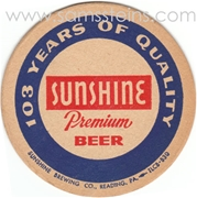 Sunshine 103 Years Beer Coaster