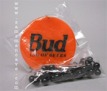 Bud King of Beers Halloween Mardi Gras Beads
