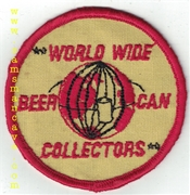 World Wide Beer Can Collectors Patch