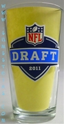 Bud Light 2011 NFL Draft Pint Glass Set of Four