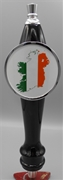 Ireland Flag Map Tap Handle