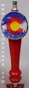 Colorado State Flag Tap Handle