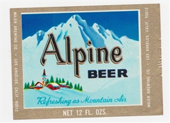 Alpine Beer Label