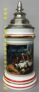 Budweiser Porcelain Heritage Series II After The Hunt Beer Stein