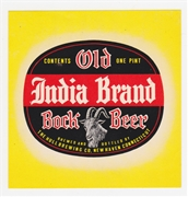 Old India Brand Bock Beer Label