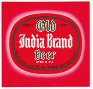 Old India Pale One Quart Beer Label