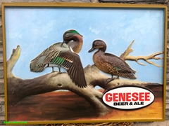 Genesee Beer & Ale Plastic Insert Green Winged Teal Sign by Sherm Pehrson