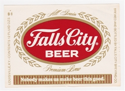 Falls City Premium Beer Label