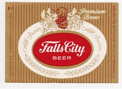 Falls City Premium Brew Beer Label