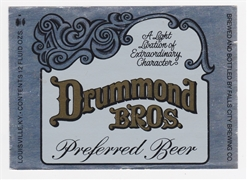 Drummond Bros. Beer Label