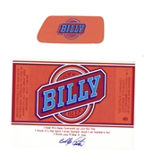 Billy Beer Label