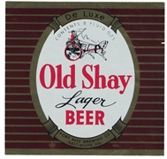 Old Shay Lager Beer Label