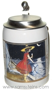 Miller Girl in the Moon Moonbeam Over the Water Miniature Stein