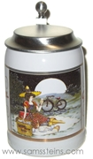 Miller Girl in the Moon Picnic Miniature Stein