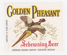 Golden Pheasant Beer Label (small)