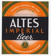 Altes Imperial IRTP Beer Label