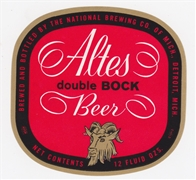 Altes Double Bock Beer Label