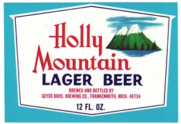 Holly Mountain Lager Beer