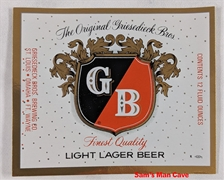 G B Light Lager Beer Label