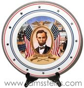 Budweiser Civil War Collection President Abraham Lincoln Plate