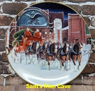 1997 Budweiser Holiday Plate