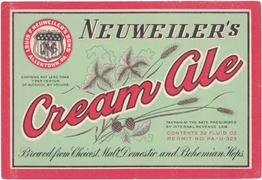 Neuweiler's Cream Ale Beer Label