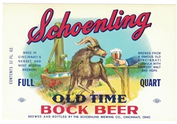 Schoenling Old Time Bock Label
