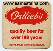 Ortlieb's Quality Beer Coaster