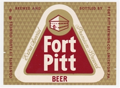 Fort Pitt Extra Special Beer Label