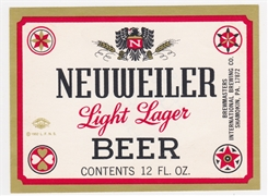 Neuweiler Light Lager Beer Label
