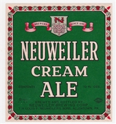 Neuweiler's Cream Ale Label