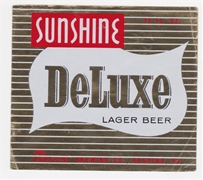 Sunshine DeLuxe Lager Beer Label