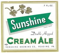 Sunshine Cream Ale Beer Label