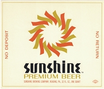 Sunshine Premium Beer No Deposit No Return Label